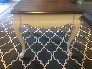 Refinished end table- solid wood
