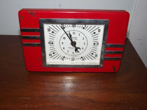 ART DECO 1931 LUXOR PHOTO TIMER BURKE & JAMES, INC WIND-UP DARKROOM CLOCK