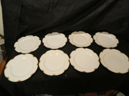 Set of 8 Limoges Haviland Silver Anniversary Dessert Plates 6 1/4""
