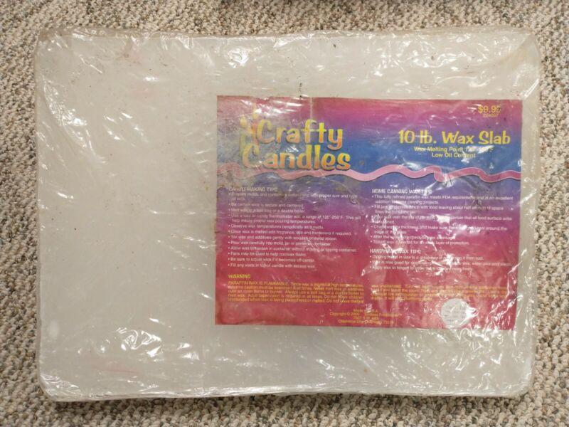 10 lb Crafty Candles Parafin Wax Slab