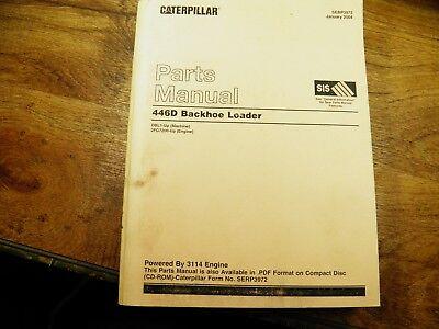 Cat Caterpillar 446d Backhoe Loader Parts Manual Dbl1-up 2fg7200-up Engine