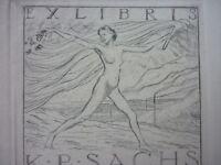Exlibris, Ex Libris ,k.p. Sachs, Art Nouveau Erotico (4) -  - ebay.it