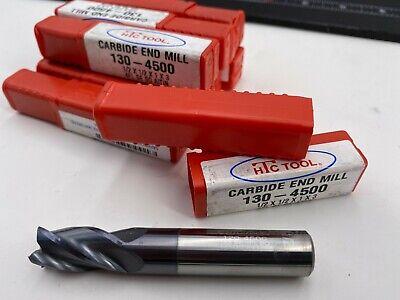 12 End Mill Carbide Lot 10 Pcs