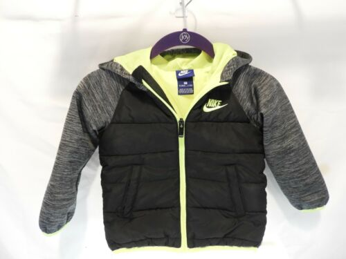 NIKE 92-98CM BOYS 3T FULL ZIP BLACK GREEN JACKET ( HCH )