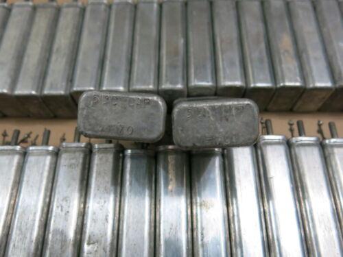 2 pcs Western Electric 513C vintage capacitors 10uF/250VDC