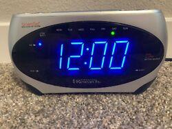 Emerson Research Digital Dual Alarm AM/FM Clock Radio CKS1862, Tested, Works