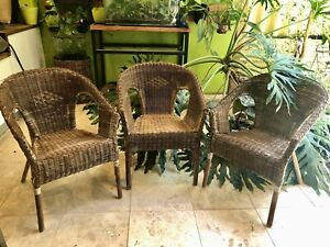 Cane armchairs 800 mm h x 600 d x 560w. Have 3. Price is for each