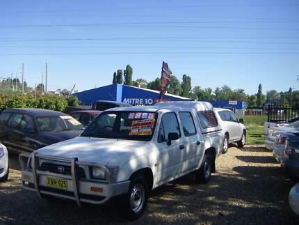 2001 Toyota Hilux Ute Dual Cab 2.7 4cyl Petrol Tidy car Low kms
