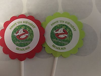 Ghostbusters Cupcake Toppers (Ghost Busters Customized Cupcake Toppers/Picks 12 count)