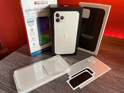 Unlocked Verizon Apple iPhone 11 Pro Max 256GB Silver Smartphone +extras!