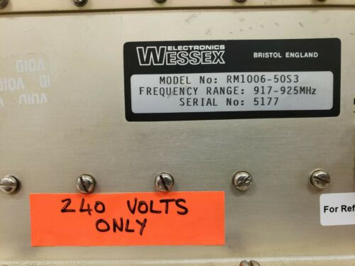 RF Power Amplifier Wessex Electronics