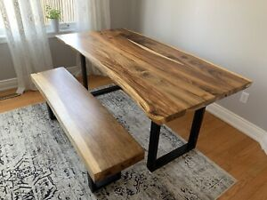 Artemano live edge table and bench