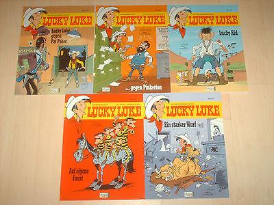 Sammlung Comics 5 Lucky Luke Bände 87, 88, 89, 90 & 91 1A! Zustand