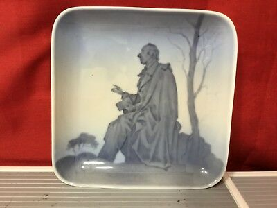 """BING AND GRONDAHL HC ANDERSEN SQUARE PLATE TRINKET DISH, 5"""" BY 5"""""""