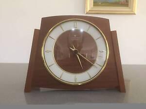 "Danish style ""Junghans"" teak electro mechanical mantle clock Albury Albury Area Preview"