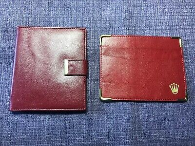 Vintage 80's Rolex Red Wallet;Card Holder . pair for sale