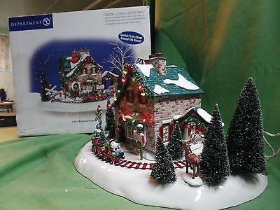 Dept 56 Snow Village Christmas Lane Santa's Wonderland House