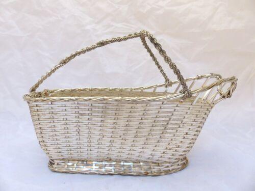 CHRISTOFLE Vintage Wine Basket Server Silverplated / Panier à Vin