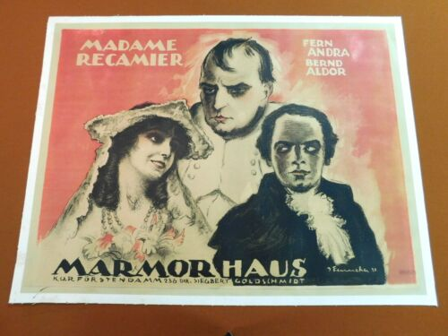 JOSEF FENNEKER Vintage Rare 1920 Silent Film GERMAN MOVIE Litho Poster NAPOLEON