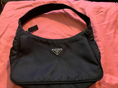 Authentic Prada Tessuto Purse Hobo Hand Bag Vintage