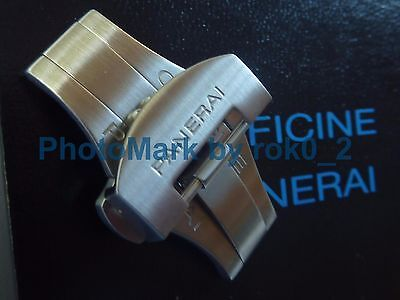 Genuine OFFICINE PANERAI 22mm S/S deployment deployant BRUSHED Buckle Clasp NEW!