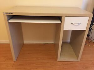 Brown and white sturdy desk