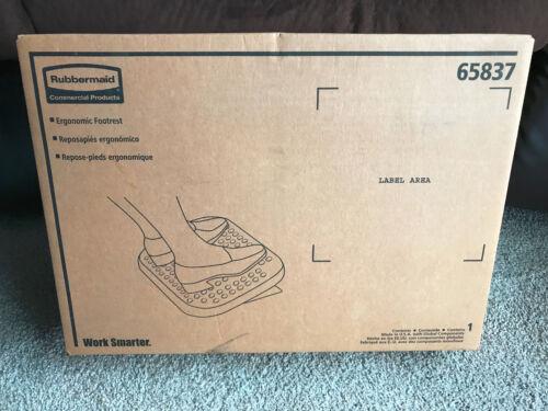 NEW Rubbermaid Tilting Ergonomic Footrest, Angle Adjustable, Charcoal