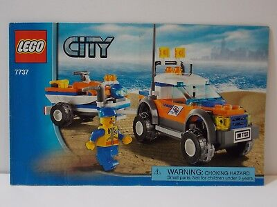 7737 City Coast Guard 4wd Jet Scooter Lego Instruction Manual Only