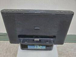 Sonyi Phone/iPod Clock Radio Speaker Dock ICF-CS15iP Dream Machine Antenna Black