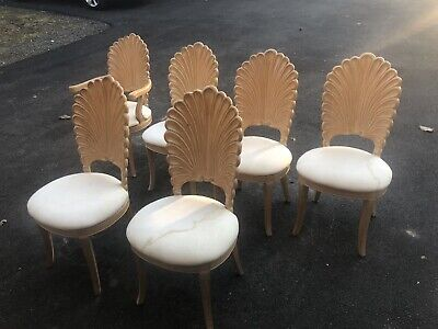 Grotto Shell (Set Of Six Vintage Grotto Style Shell Back Dining)