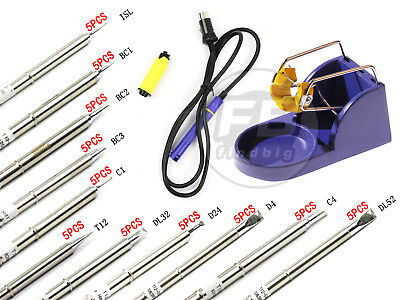5pcs Solder Iron Station For Hakko 912 Fx-951 Fm-2028 Handlebase T12 Series