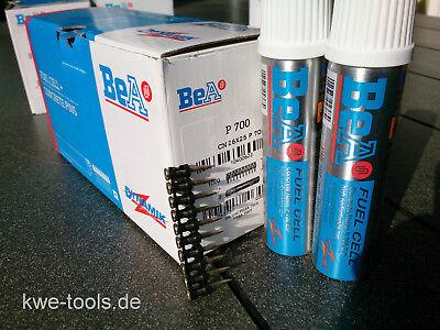 1000 BeA Stahlnägel Betonnägel 25 mm + 2 x Gas für Spit Pulsa 700 P/E
