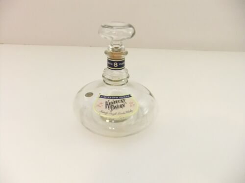 Captains Quart Kentucky Tavern Whiskey Ships Decanter Bottle Nautical