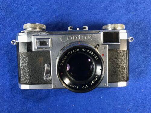 Contax IIA 35mm Rangefinder Film Camera W/ Sonnar 50mm F2 - Color Dial F21317