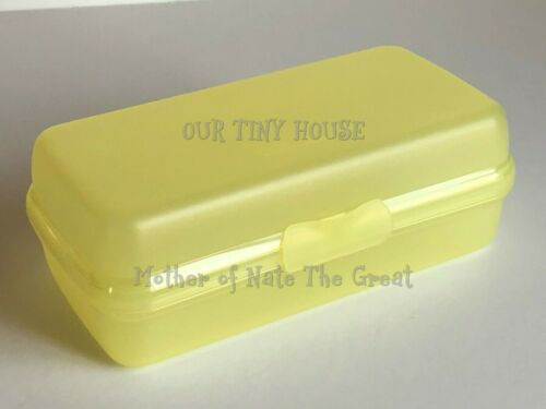 Tupperware Sandwich Keeper Sub & Hoagie Lunch Container Yellow Rectangle NEW