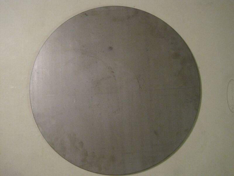 "Pizza Stone, 1/4"" Steel Plate, Disc Shaped, 15.00'' Diameter, .250 A36 Steel"