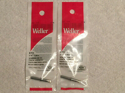 Lot Of 2 Weller Etd Solder Soldering Tips For Wes51 Wesd51 Wesd51d Pes51