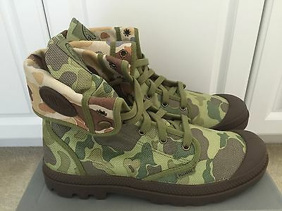 Palladium Men's Baggy Snow Boots 02353312,Green Camo New In Box