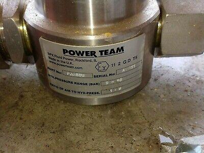 Powerteam--spx- Fluid Power--model Pma60u-- Air Over Hydraulic Pump-- Rockford