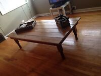 Stunning extra large wooden coffee table