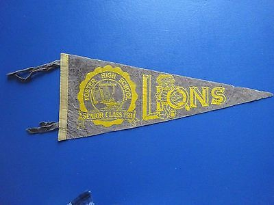 1958 Foster High School Lions Senior Class of 1958 Pennant