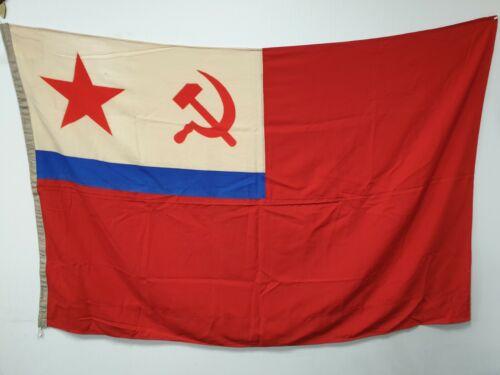 Original Russian Soviet Navy flag . USSR MARITIME