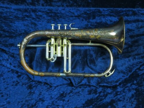 Yamaha YFH-631 Flugelhorn Ser#007827A Pro Line with Copper Bell Plays Great!