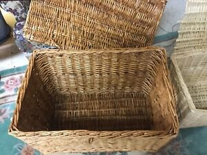 Bamboo wicker  chests
