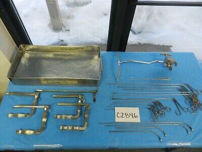 Pilling V. Mueller Surgical Ent Panendoscopy Instrument Set W Tray
