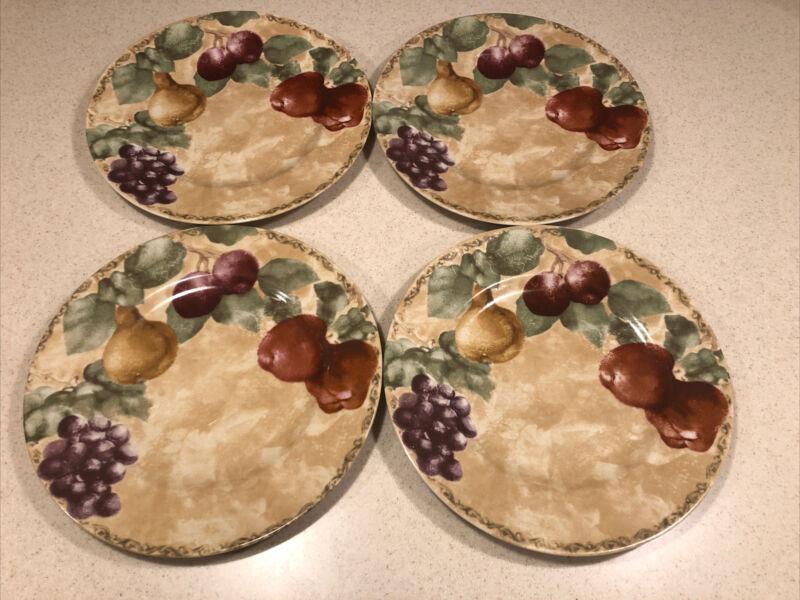 "(4) 222 Fifth Cheri Blum CORTLAND 10 3/4"" Dinner Platers"