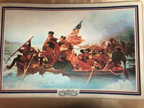 Patriotic Placemats Vintage Birth of the Nation Set of 4 pre-owned FREE Shipping