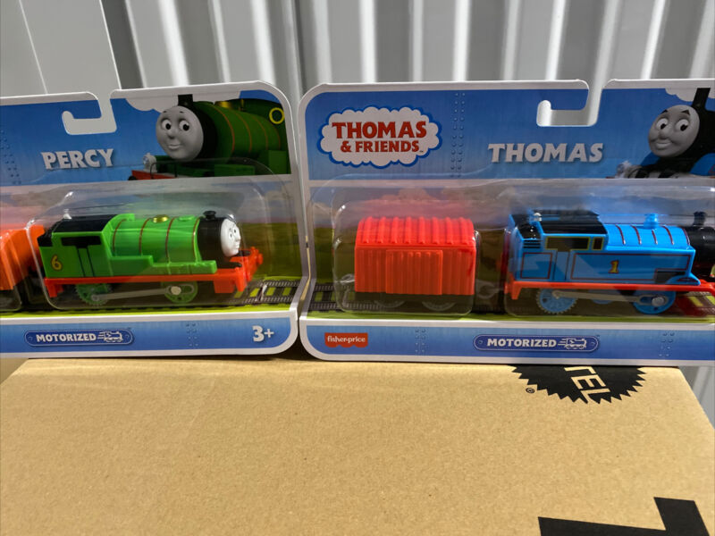 Fisher-Price Thomas & Friends Motorized Thomas & Percy Engine New In Boxes Lot