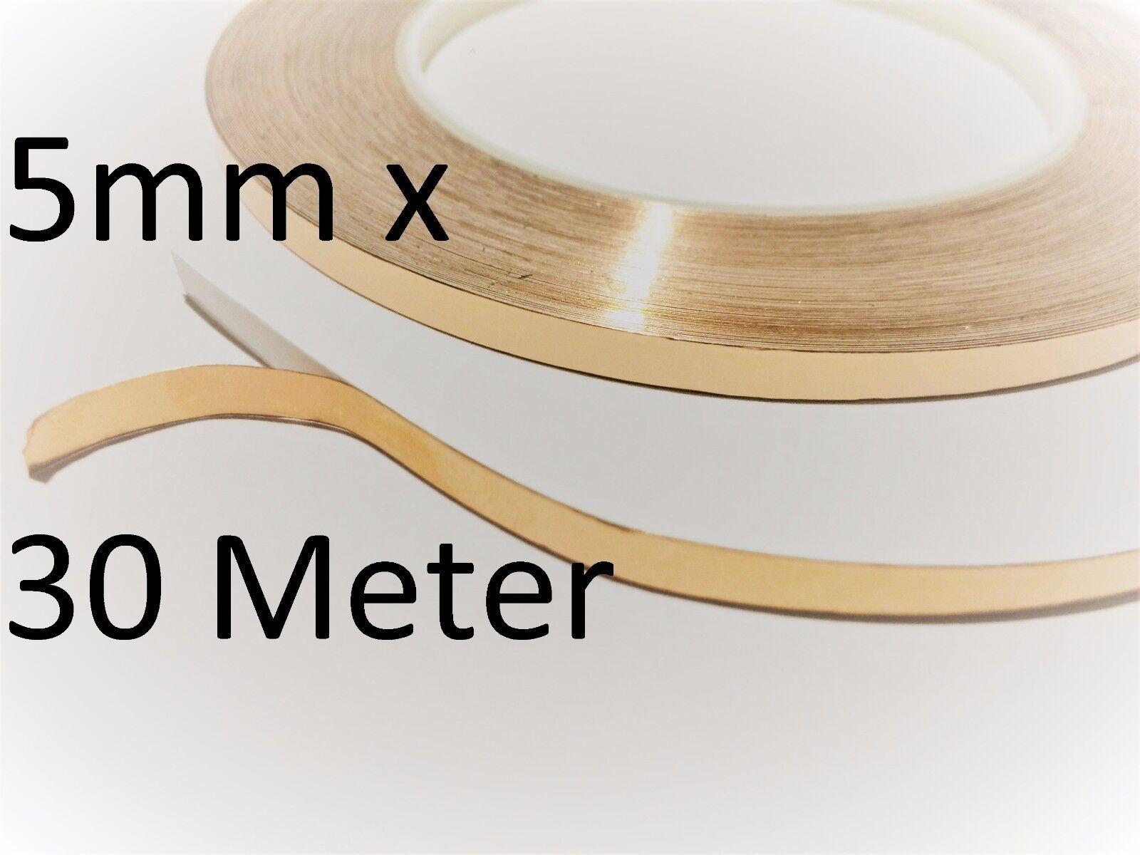 50 mm x 4 Meter selbstklebend Kupferband Kupferfolie EMI 5 cm Schnecken abwehr