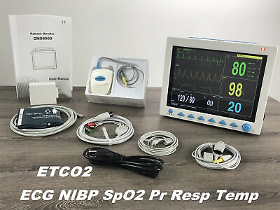 Cms8000 Free Capnograph Etco2 Vital Signs Patient Monitor Multi Parameter Hot Us